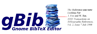 Gnome BibTeX Editor